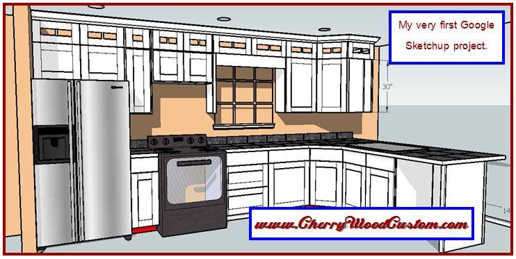 Google sketchup cabinets kitchen cabinets matttroy for Sketchup kitchen design