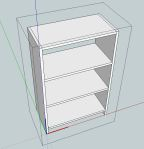 Figure 7. Add shelves; Ready for Cutlist 4.1