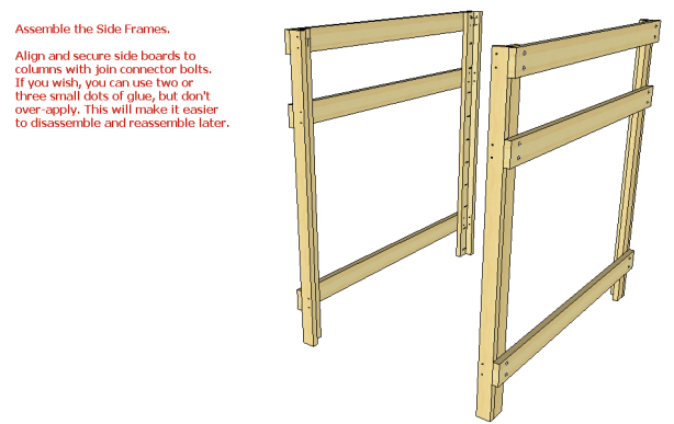 twin over queen bunk bed plans
