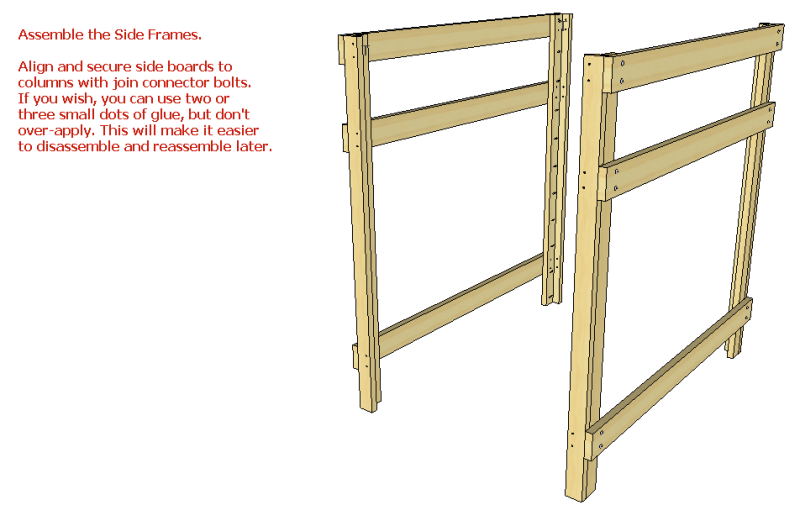 Diy woodland princess castle bunk bed plans wooden pdf for Princess bed blueprints