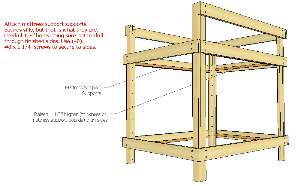 plans to build a queen size bunk bed
