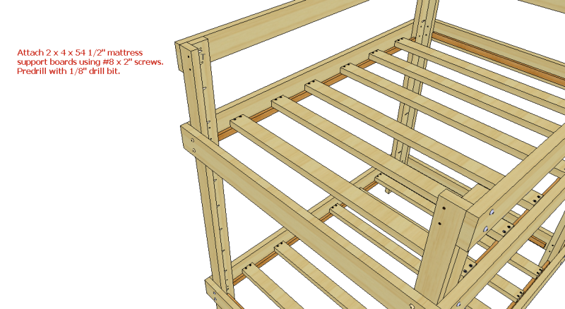 loft bed building designs extra long twin over queen bunk bed plans ...