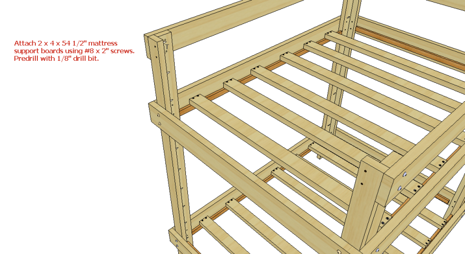 DIY Bunk Bed Plans Full Over Queen PDF Plans UK USA NZ CA