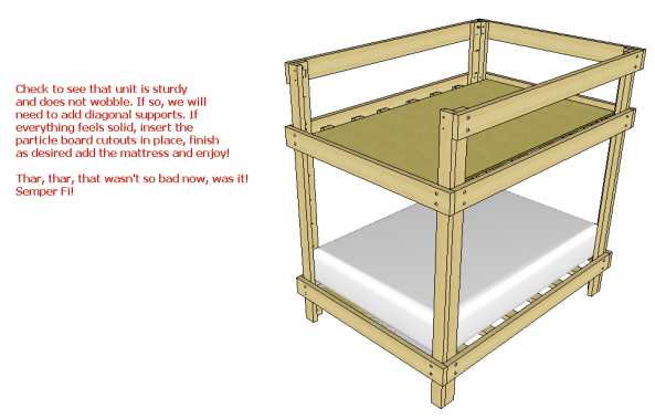 Loft Bed Plans For Full Size Mattress