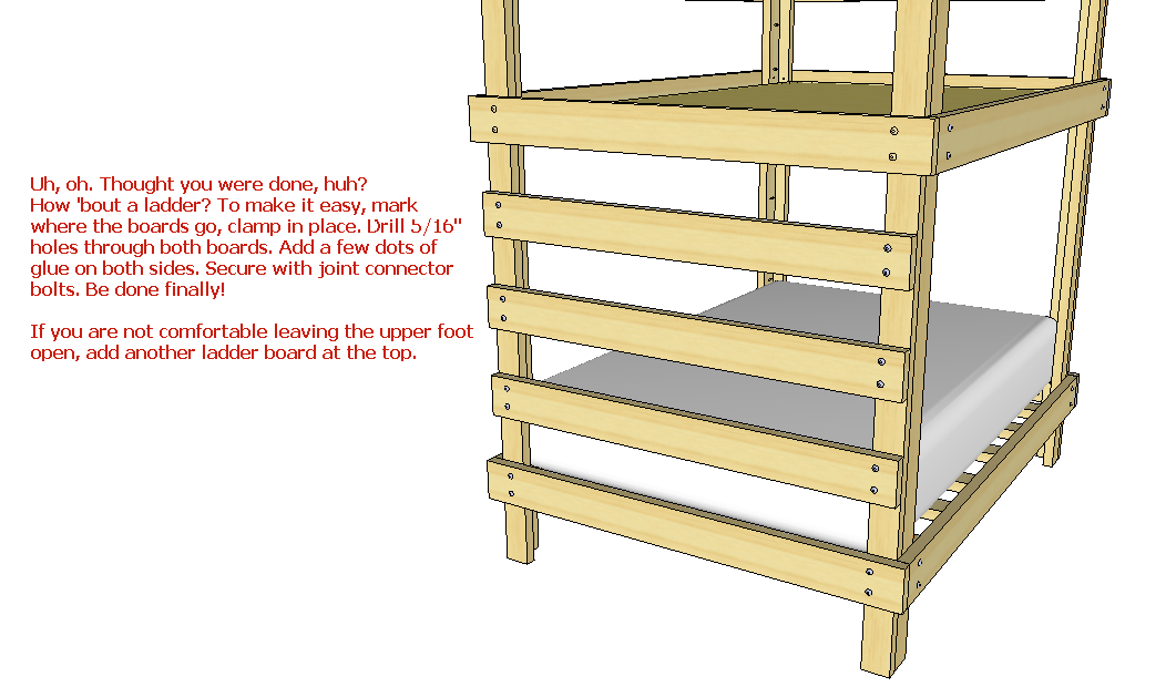bunk bed construction lumber