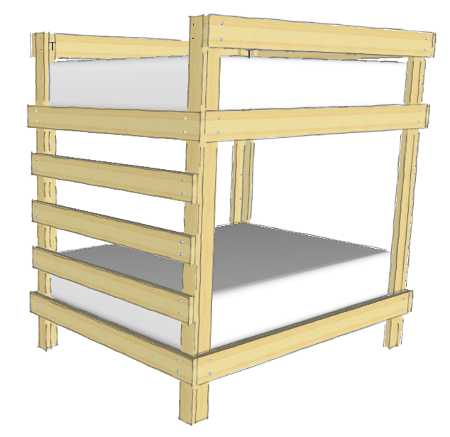 cheap way to build bunk beds 2